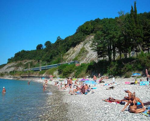 Пляжи Сочи. Пляж поселка «Вишневка»